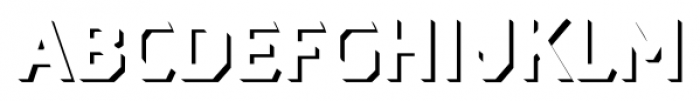 Dever Sans Shadow Medium Font LOWERCASE