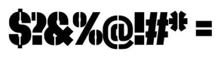 Dezen Stencil 02 Black Font OTHER CHARS