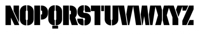 Dezen Stencil 02 Black Font UPPERCASE