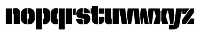 Dezen Stencil 02 Black Font LOWERCASE