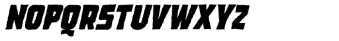 Dead Zone Bold Oblique Font LOWERCASE