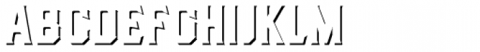 Dealers Shadows Font UPPERCASE