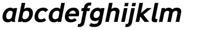 Deansgate Bold Italic Font LOWERCASE