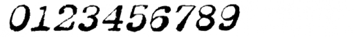 Dear John Uneven Italic Font OTHER CHARS