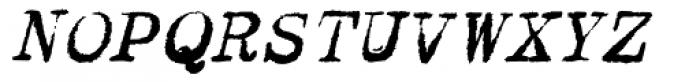 Dear John Uneven Italic Font UPPERCASE