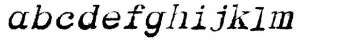 Dear John Uneven Italic Font LOWERCASE
