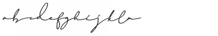 Dear Nathan Regular Font LOWERCASE