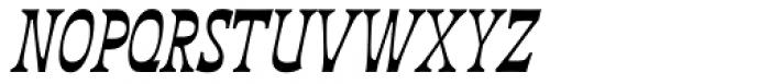 Deberny Line Narrow Bold Italic Font UPPERCASE