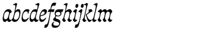 Deberny Line Narrow Bold Italic Font LOWERCASE