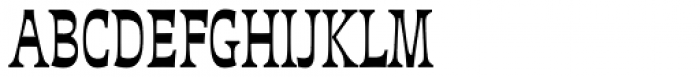 Deberny Line Narrow Bold Font UPPERCASE