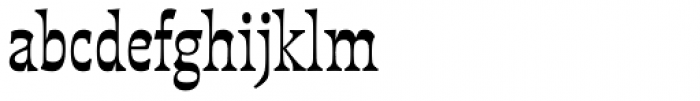 Deberny Line Narrow Bold Font LOWERCASE