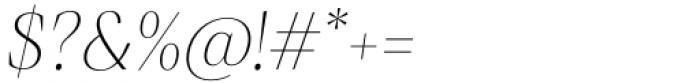 Debira ExtraLight Italic Font OTHER CHARS