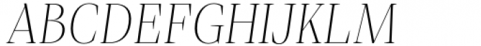 Debira ExtraLight Italic Font UPPERCASE