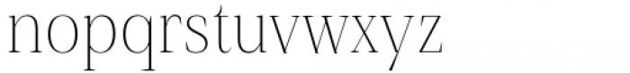 Debira ExtraLight Font LOWERCASE