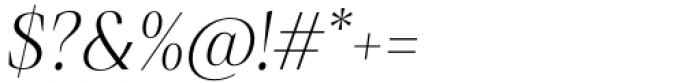 Debira Light Italic Font OTHER CHARS