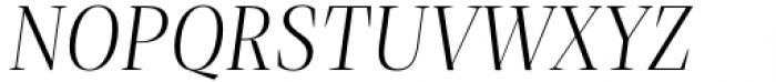 Debira Light Italic Font UPPERCASE