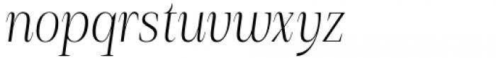Debira Light Italic Font LOWERCASE
