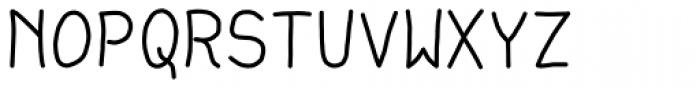 Debug Sharpie Font UPPERCASE