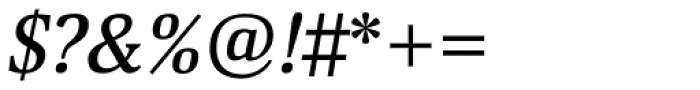 Deca Serif New Medium Italic Font OTHER CHARS