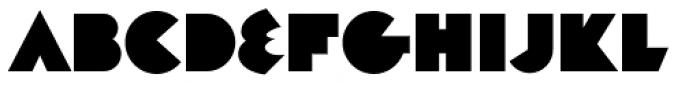Decade Regular Font UPPERCASE