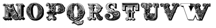 Decadence Avec Elegance Two Font LOWERCASE