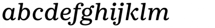 Deccan Medium Italic Font LOWERCASE