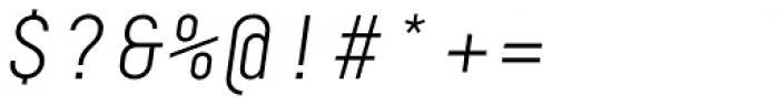 Decima Mono A Light Italic Font OTHER CHARS