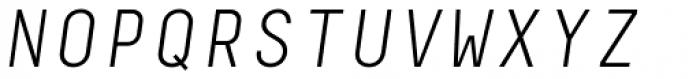 Decima Mono A Light Italic Font UPPERCASE