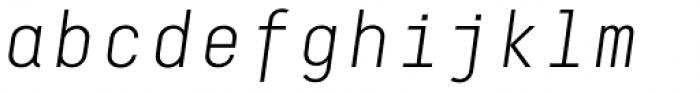 Decima Mono A Light Italic Font LOWERCASE