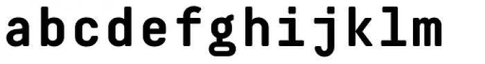 Decima Mono Pro Bold Font LOWERCASE