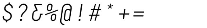 Decima Mono Pro Light Italic Font OTHER CHARS