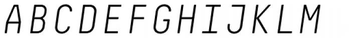 Decima Mono Pro Light Italic Font UPPERCASE