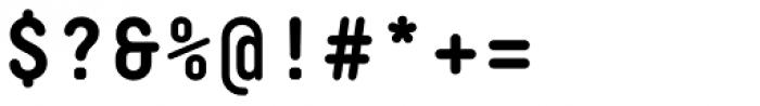 Decima Mono Round Bold Font OTHER CHARS