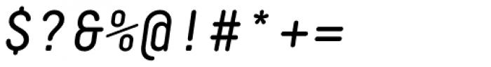 Decima Mono Round Italic Font OTHER CHARS
