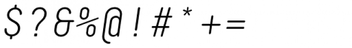Decima Mono Round Light Italic Font OTHER CHARS