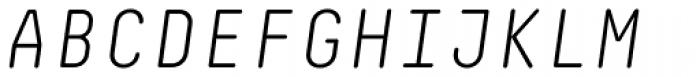 Decima Mono Round Light Italic Font UPPERCASE