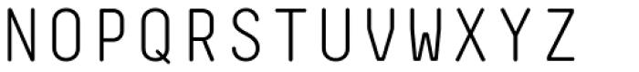 Decima Mono Round Light Font UPPERCASE