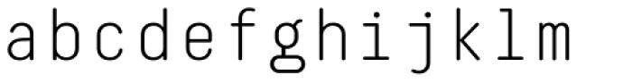 Decima Mono Round Light Font LOWERCASE