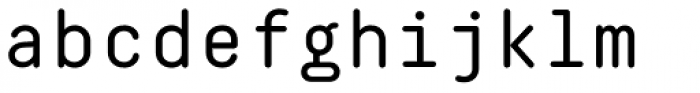 Decima Mono Round Font LOWERCASE