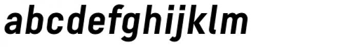 Decima Pro A Bold Oblique Font LOWERCASE