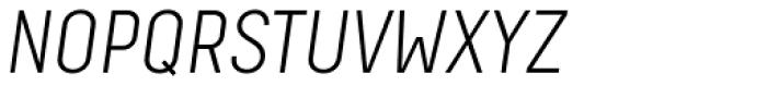 Decima Pro A Light Oblique Font UPPERCASE