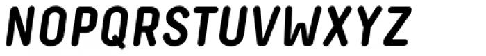 Decima Round A Bold Oblique Font UPPERCASE
