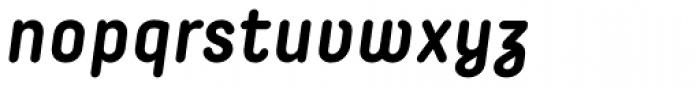 Decima Round Bold Italic Font LOWERCASE