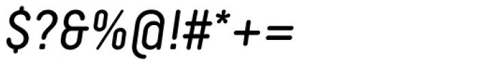 Decima Round Italic Font OTHER CHARS