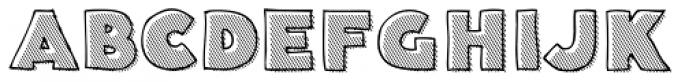 Deco Hatched Font UPPERCASE