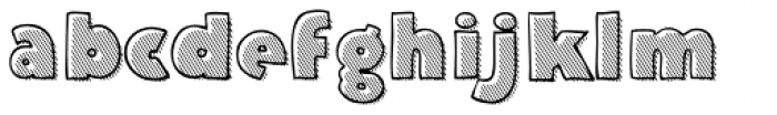 Deco Hatched Font LOWERCASE