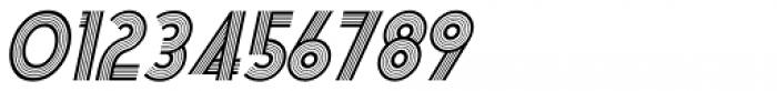 Deco Multiline Oblique JNL Font OTHER CHARS
