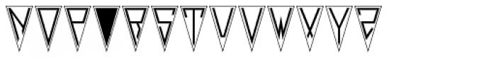Deco Pennant Initials JNL Font LOWERCASE