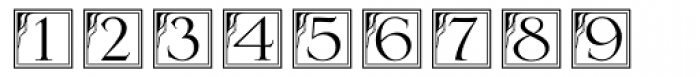 DecoNumbers LH Serlio Font UPPERCASE