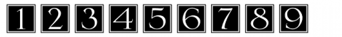 DecoNumbers LH Serlio Font LOWERCASE